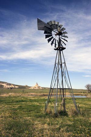 nebraska: Artesian Well and Chimney Rock in Nebraska.