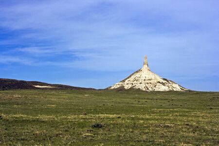 Chimney Rock in Nebraska, USA.