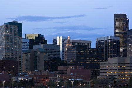 Getting dark in Denver, Colorado. photo