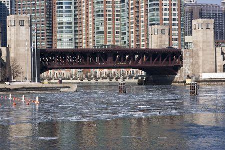 Lake Shore Drive Bridge in Chicago, IL. photo