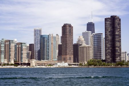 Lakefront architecture in downtown Chicago. photo