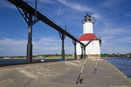 Fishing time - St. Joseph Lighthouse photo