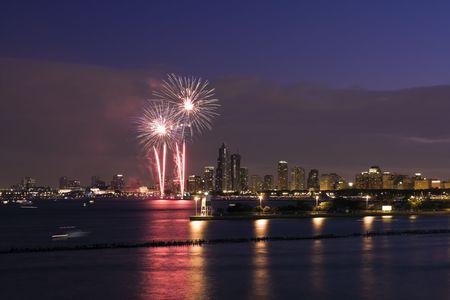il: Summer Fireworks in Chicago, IL.