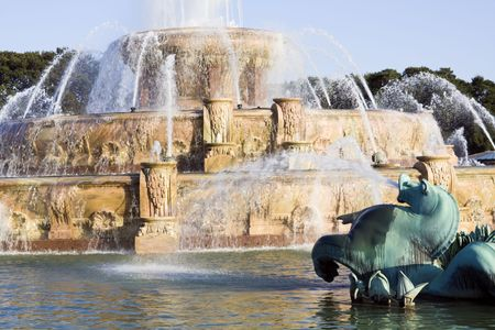 renovated: Renovated Buckingham Fountain in Chicago