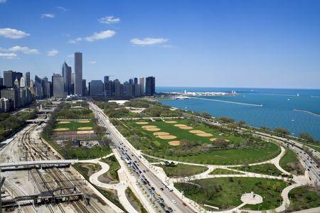 windy city: Grant Park en Chicago, IL.