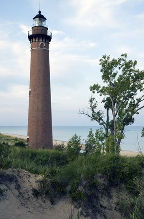 Little Sable Point Ligthhouse in Michigan - AD 1874. photo