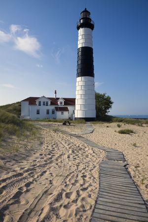 lake michigan lighthouse: Big Sable Point Lighthouse, Michigan, EE.UU..