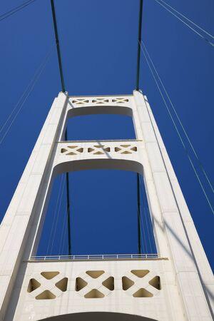 mackinac: Driving Mackinac Bridge - Michigan, USA.