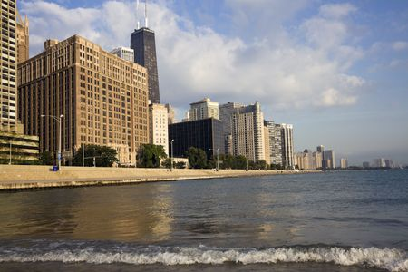 late summer: Gold Coast in Chicago - late summer Stock Photo