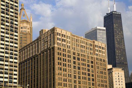 Chicago, Illinois - buildings along Gold Coast. photo