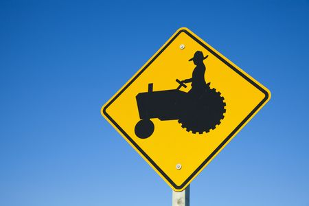be careful: Be careful! Farmers on tractors!