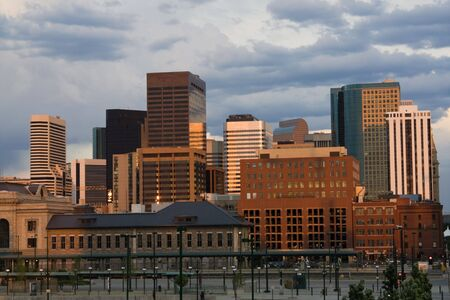 Downtown Denver, Colorado late afternoon.