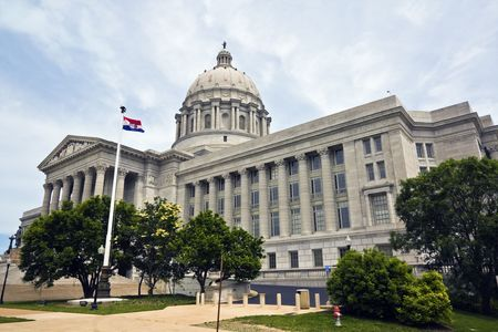 courthouse: State Capitol of Missouri in Jefferson City. Stock Photo