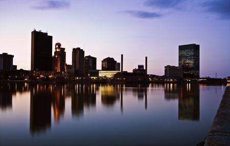 Toledo, Ohio - seen late evening.