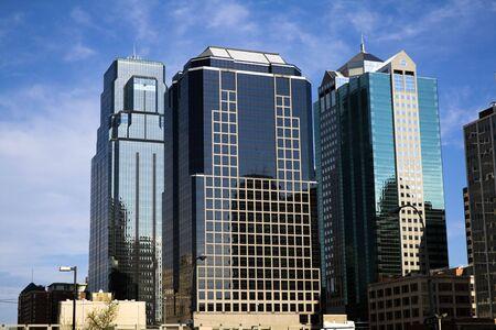missouri: Kansas City - skyscrapers in downtown