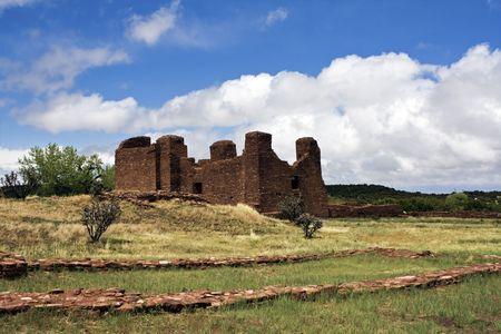 pueblo: Abo Pueblo Ruins - New Mexico