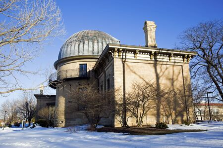university of wisconsin: Observatory in Madison, Wisconsin - winter time.