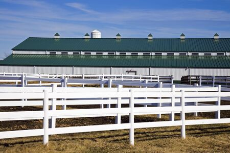 Stable - paddock in the foreground.
