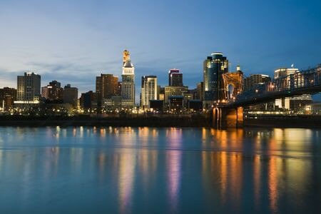 Skyline of Cincinnati, Ohio. Stock Photo - 6945285