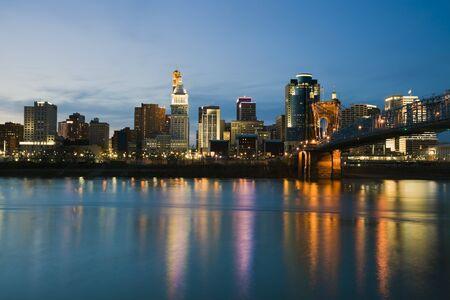 Skyline of Cincinnati, Ohio. Stock Photo - 6945285
