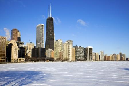 Gold Coast winter time - seen accross frozen Lake Michigan. Reklamní fotografie