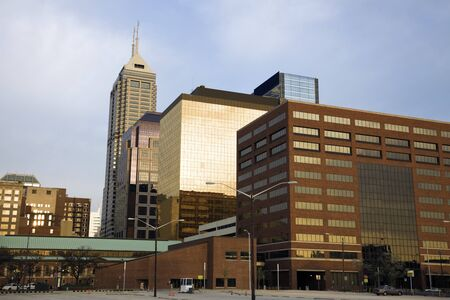 Indianapolis, Indiana in the morning. photo
