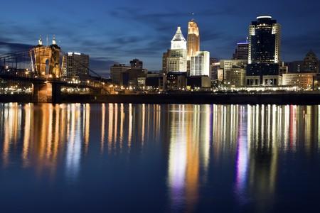Cincinnati - seen just after sunset. photo