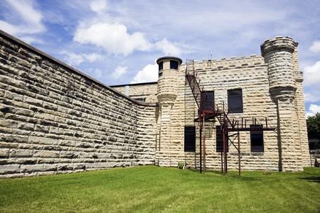 Walls of historic Jail in Joliet, Illinois - suburb of Chicago. Stock Photo - 7493410