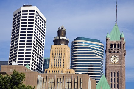 Colorful Buildings in Minneapolis, Minnesota. Stock Photo - 7488920