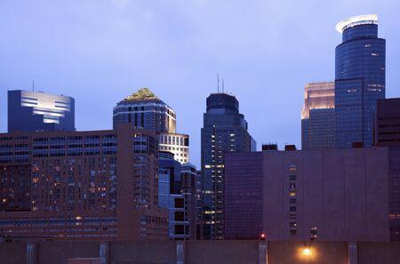 Dusk in Minneapolis, Minnesota, USA. Stock Photo - 7488878