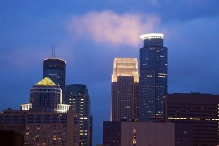 Sunset in Minneapolis, Minnesota, USA. Stock Photo - 7488665
