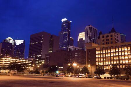 Night in Minneapolis, Minnesota, USA. Stock Photo - 7488923