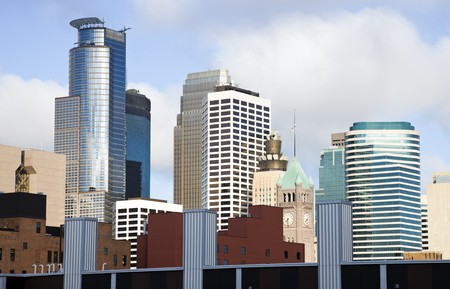 Colorful Buildings in Minneapolis, Minnesota. Stock Photo - 7488887
