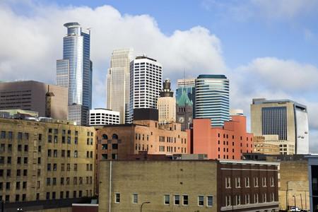 Colorful Buildings in Minneapolis, Minnesota. Stock Photo - 7493204