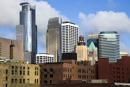 Colorful Buildings in Minneapolis, Minnesota. Stock Photo - 7489025