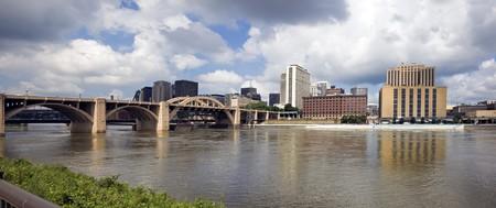 rapids: Architecture of Grand Rapids, Michigan, USA. Stock Photo