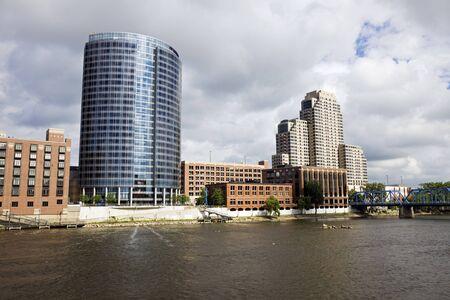Architecture of Grand Rapids, Michigan, USA. 版權商用圖片