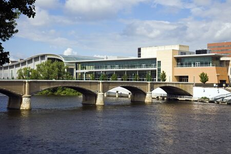 Bridge in Grand Rapids, Michigan, USA. Stock fotó - 7493360