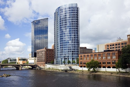 Architecture of Grand Rapids, Michigan, USA. photo
