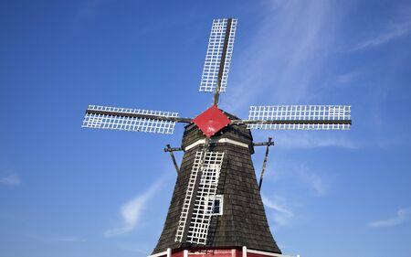 Windmill in Holland, Michigan, USA. Фото со стока