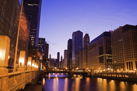 Early Morning by Chicago River photo