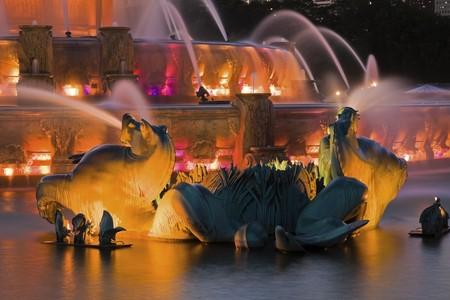 Buckingham Fountain detail - Chicago, Illinois, USA.