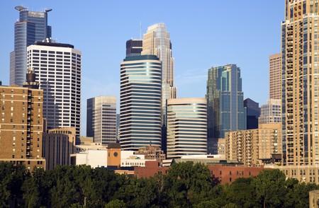 Modern Downtown of Minneapolis, Minnesota. Stock Photo