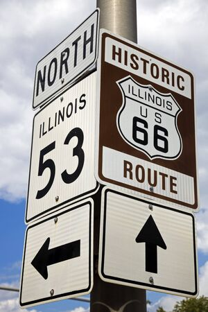 Beginning of Historic Route 66 Stok Fotoğraf