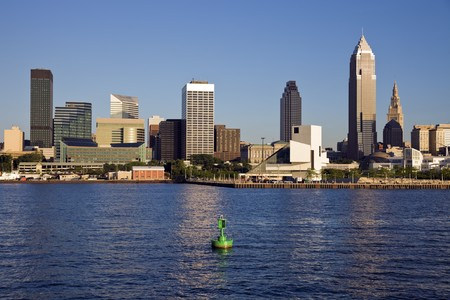Late afternoon in downtown Cleveland, Ohio.