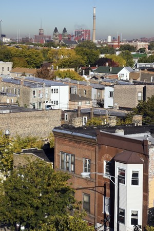 residencial: Near South Side of Chicago - Fall time