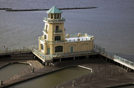 seen: Yellow Lighthouse - seen in Biloxi, Mississippi.