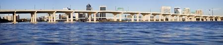 jacksonville: Panoramic Jacksonville, Florida. Afternoon time. Stock Photo