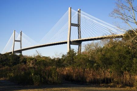 Talmadge Memorial Bridge in Savannah, Georgia.