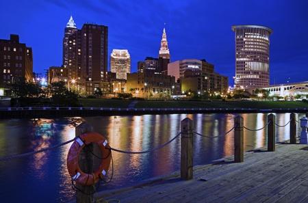 Skyline of Cleveland, Ohio, USA
